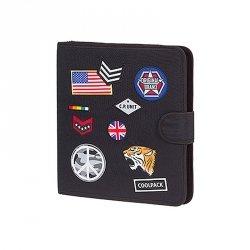 COOLPACK Teczka wielofunkcyjna organizer MATE, czarna w znaczki, BADGES BLACK (85991CP)