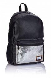 Plecak HEAD czarny ze srebrnymi dodatkami, SILVER FASHION HD-353 (502019086)