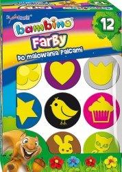 Farby do malowania palcami + stempelki BAMBINO dla dziewczynki (03165)