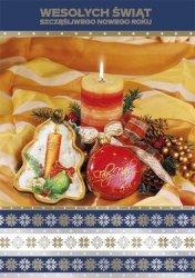 Kartka świąteczna BOŻE NARODZENIE 12 x 17 cm + koperta (28219)