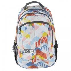 Plecak szkolny, młodzieżowy wycieczkowy DIRECTION, granatowy w grochy PASO (172808UG)