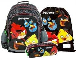 Plecak szkolny ANGRY BIRDS 3 cz. + GRATIS (PL15AB10SET/5) ZESTAW