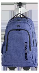 Plecak szkolny młodzieżowy na kółkach COOLPACK SUMMIT niebieski, SNOW BLUE 856 (76272)