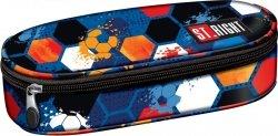 Piórnik szkolny ST.RIGHT granatowy w piłki FOOTBALL PC1 (16853)