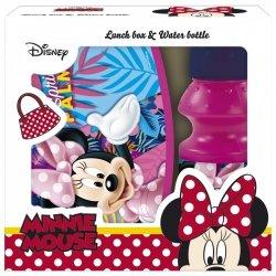 Zestaw bidon i śniadaniówka w kartoniku Myszka Minnie (ZSBMM22)