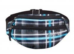 Saszetka na pas torba nerka COOLPACK POLAR w szaro - niebieską kratę SPORTY 454 (59084)