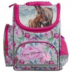 ZESTAW 6 el. Tornister szkolny ergonomiczny I LOVE HORSES Konie (TEMBKO18SET6CZ)