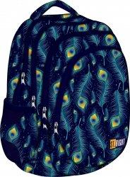 Plecak szkolny młodzieżowy ST.RIGHT w pawie pióra PEACOCK BP6 (17577)