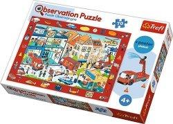 TREFL Puzzle Obserwacyjne 70 el. Odwiedzamy remizę strażacką (15537)