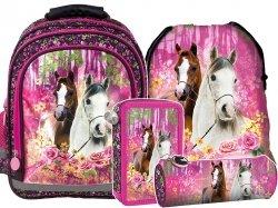 Plecak szkolny I LOVE HORSES Konie (PL15BKO15SET4CZ) ZESTAW 4 el.
