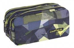 Piórnik trzykomorowy saszetka COOLPACK PRIMUS zielone wzory geometryczne, LIME ABSTRACT (80528CP)