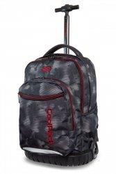 Plecak CoolPack SWIFT na kółkach czarny z czerwonymi dodatkami, MISTY RED (B04006)