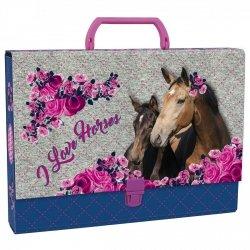 Teczka twarda z rączką I LOVE HORSES (TTRKO03)