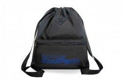 Plecak Sportowy Worek na sznurkach CoolPack URBAN czarny z niebieskimi dodatkami, SUPER BLUE (A46115)