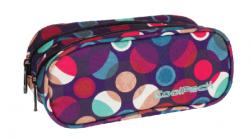 Piórnik CoolPack CLEVER dwukomorowy saszetka w kolorowe kropki, MOSAIC DOTS 724 (72588)
