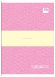 Zeszyt A5 60 kartek w linię BB PASTEL Róż (55617)