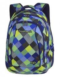 Plecak szkolny młodzieżowy COOLPACK COMBO 2w1 niebiesko zielona krata, BLUE PATCHWORK (81709CP)