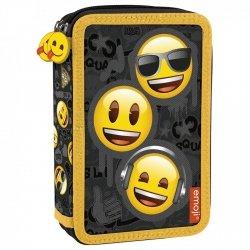 Piórnik z wyposażeniem, dwukomorowy Emoji EMOTIKONY (PWDEM10)