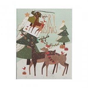 Torebka świąteczna na prezent RENIFERY Incood. (0112-0003)