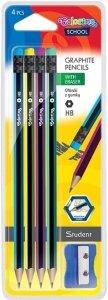 Ołówek sześciokątny z gumką 4 szt. Colorino (39910PTR)