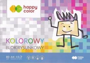 Blok rysunkowy A4 kolorowe kartki 15 kolorów HAPPY COLOR (06620)