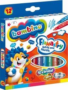 Flamastry brokatowe 12 kolorów BAMBINO (28634)