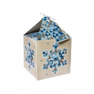 Pudełko prezentowe świąteczne na prezent 4 szt. ŚNIEŻYNKA Incood. (0115-0006)