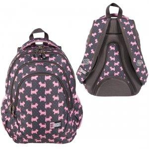 Plecak szkolny młodzieżowy ST.RIGHT w psiaki, DOGGIES BP6 (25626)