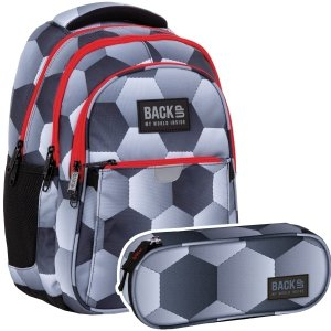 ZESTAW 2 el. Plecak wczesnoszkolny BackUP 24 L piłka nożna, FOOTBALL (PLB4P52SET2CZ)