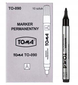10x MARKER permanentny TOMA, czarny (TO-090SET10CZ)