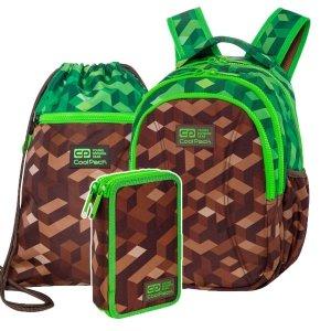 ZESTAW 3 el. Plecak wczesnoszkolny CoolPack JOY S 21L miejska dżungla, CITY JUNGLE (C48199SET3CZ)