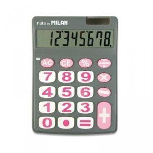 Kalkulator 8 pozycyjny szary Milan (151708GBL)