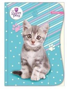 Zeszyt A5 w kratkę 16 kartek The Sweet Pets KOTEK (94944)