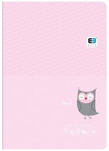 Zeszyt A5 w kolorową linię 32 kartek OWL sowa (61311)