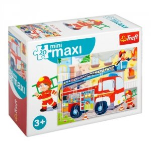 TREFL Puzzle miniMaxi 20 el. Pojazdy, Wóz strażacki (21049)