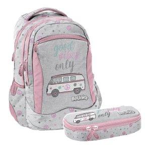 ZESTAW 2 el. Plecak szkolny młodzieżowy BUS Paso (PPBU20-2808SET2CZ)