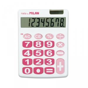 Kalkulator 8 pozycyjny biały  Milan (151708WBL)