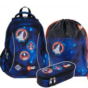 ZESTAW 3 el. Plecak wczesnoszkolny ST.RIGHT misja kosmiczna, COSMIC MISSION BP26 (27477SET3CZ)