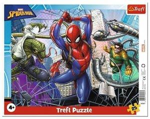 TREFL Puzzle Ramkowe 25 el. SPIDERMAN Odważny Spiderman (31347)