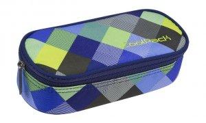 Piórnik CoolPack CAMPUS niebiesko zielona krata, BLUE PATCHWORK (81754CP)