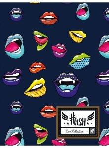 Zeszyt A5 w kratkę 60 kartek HASH w usta, LIPS HS-155 (102019029)