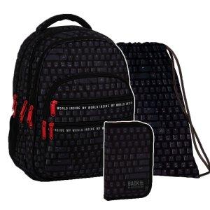 ZESTAW 3 el. Plecak szkolny młodzieżowy BackUP 28 L KLAWIATURA (PLB3M45SET3CZ)