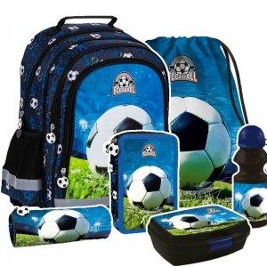 ZESTAW 6 el. Plecak szkolny FOOTBALL Piłka nożna (PL15BPI16ZEST6CZ)