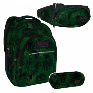 ZESTAW 3 el. Plecak szkolny młodzieżowy BackUP dżungla, KOMANDO (PLB2H49SET3CZ)