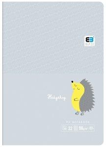 Zeszyt A5 w kratkę 16 kartek B&B HEDGEHOG jeżyk (55549)