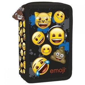 Piórnik z wyposażeniem, dwukomorowy Emoji EMOTIKONY (PWDEM12)