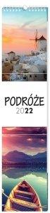 Kalendarz ścienny paskowy PODRÓŻE 2022 13,5 x 60 cm (00164)