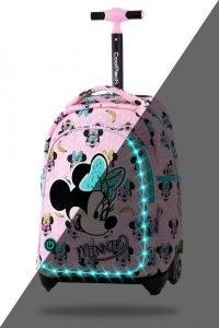 ZESTAW 2 el. Plecak CoolPack JACK LED na kółkach Myszka Minnie, MINNIE MOUSE PINK (B52302SET2CZ)