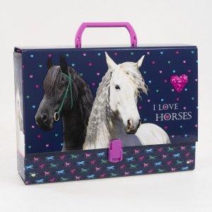 Gruba teczka z rączką I LOVE HORSES Konie (TRGKO05)