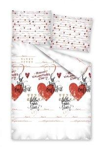 Komplet pościeli pościel Happy valentines day WALENTYNKI 160 x 200 cm (2387)